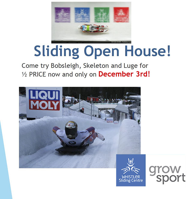 Sliding Open House - Sunday December 3rd